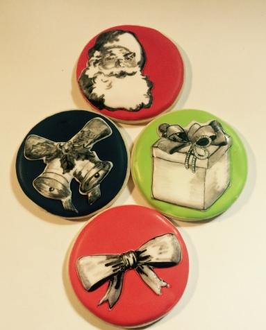 painted christmas cookies