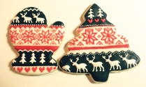 Nordic sweater cookies
