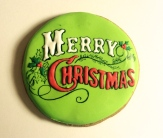 Vintage Christmas cookie