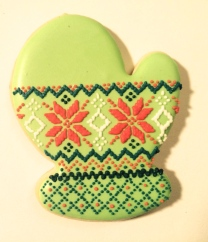 Fair isle mitten cookie