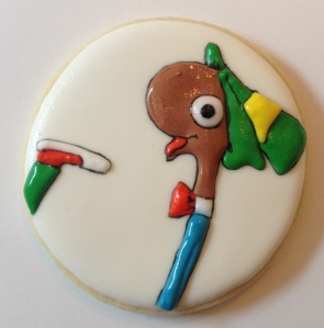 Lowly worm cookie