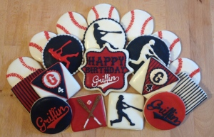 baseball birthday cookie set