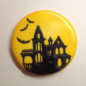 Haunted house cookie