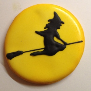 witch silhouette cookie