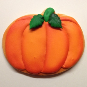 airbrushed pumpkin cookie