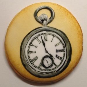 Antique pocket watch cookie