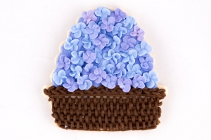 How to make flower basket cookies