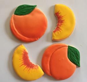 Peach slice cookies