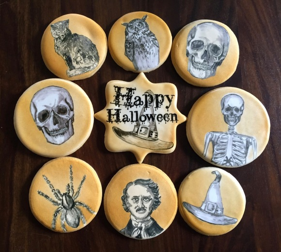 Painted halloween cookies